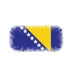 Bosnia and Herzegovina flag halftone vector image