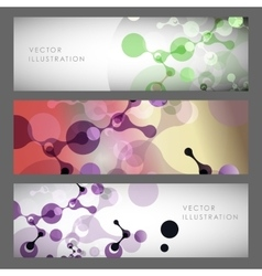 Abstract molecules design vector image