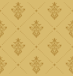 Aristocratic baroque wallpaper pattern vector