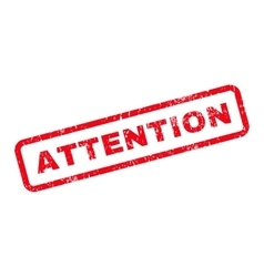 Attention Text Rubber Stamp vector image vector image