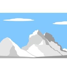 beautiful peaks in alps vector image