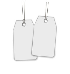 blank label or tag isolated on white vector image