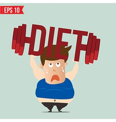 Cartoon lifting barbell for diet - - eps10 vector