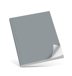 Cover gray book with blank vector image
