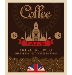 English coffee vector image vector image