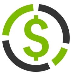 Financial diagram flat icon vector