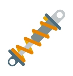 Flat of shock absorber icon vector image