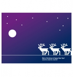 greeting card deer vector image vector image