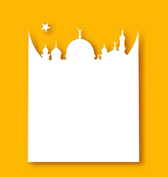 Greeting card template for ramadan kareem vector
