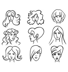 hairstyles vector image