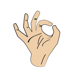 Hand man ok gesture design vector