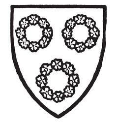 Hilton of westmoreland bore sable three rings vector