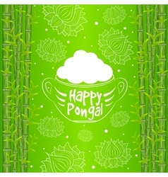 Indian harvesting festival happy pongal vector