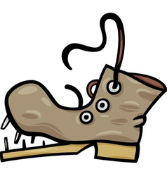 old shoe or boot cartoon clip art vector image vector image