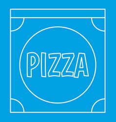 pizza box icon outline style vector image vector image