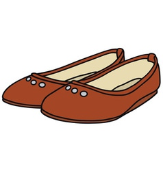 Red ballet flats vector image