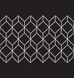 Rhombus hand draw seamless pattern white lines vector