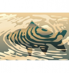 rippled fish vector image vector image