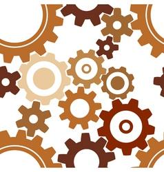 rusty cogwheel pattern vector image
