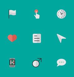 Set of simple menu icons vector