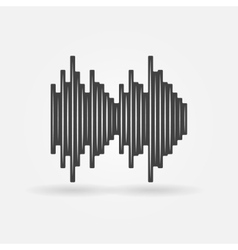 Soundwave black icon vector image