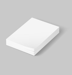 stack of blank papers on grey background vector image vector image