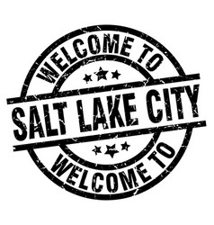 Welcome to salt lake city black stamp vector