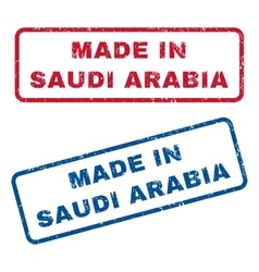 Made in saudi arabia rubber stamps vector