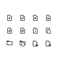 Set of files icons on white background vector
