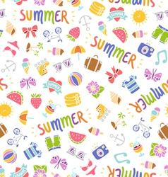 Summer doodle pattern vector image