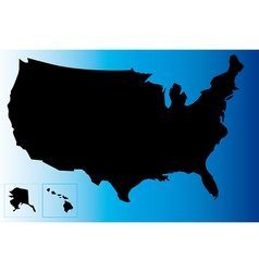 Black usa map vector