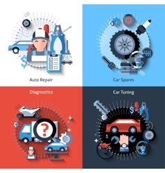 Car repair set vector
