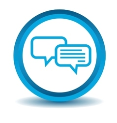Chatting icon blue 3D vector image