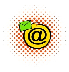 E-mail sign icon comics style vector