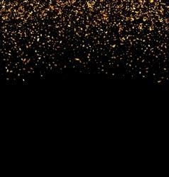Golden Explosion of Confetti vector image