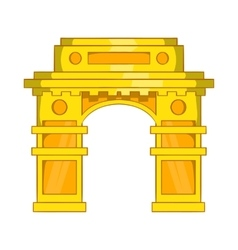India gate new delhi icon cartoon style vector