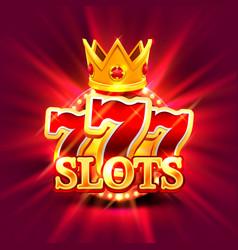 Big win slots 777 banner casino background vector