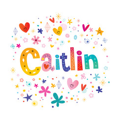 Caitlin girls name vector