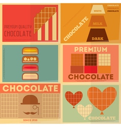 chocolate vector image