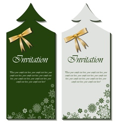 Christmas cards with bow vector image vector image