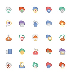 Cloud computing icons 1 vector