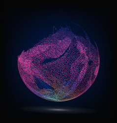 Colorful sphere composition glowing vector