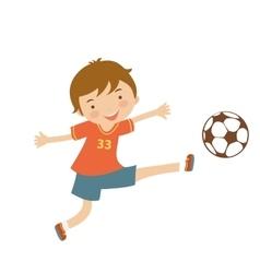 Cute football player vector image