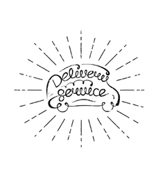 Delivery service lettering vector