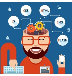 Developer of web and mobile applications vector