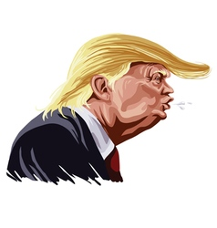 Donald trump caricature vector
