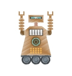 Drawing brown robot technology future artificial vector