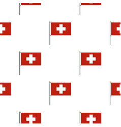 Flag of switzerland pattern seamless vector
