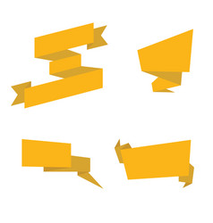 Gold ribbons isolated collection of yellow vector