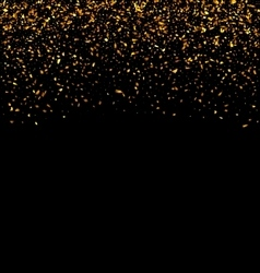 Golden explosion of confetti vector